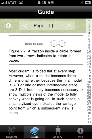 Screenshot Robert Lang's Origami Lite